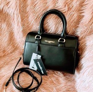 Karl Lagerfeld Paris Willow Black Crossbody Bag
